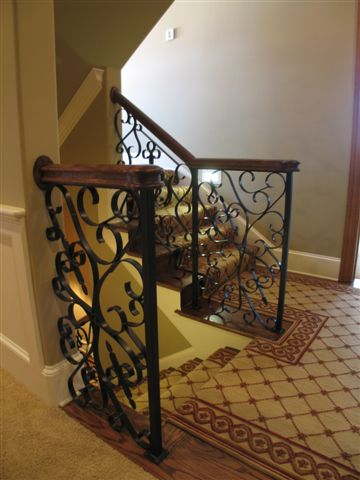 This Is A Stair Rail We Designed And Built. The Fun Part Was Designing A  Beautiful Railing That Would Be Graceful, Yet Sturdy. Note The Way We  Attached The ...